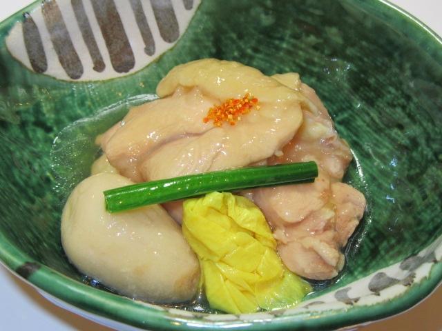 地鶏の吉野煮と子芋のたき合わせ,鶏肉の治部煮の作り方