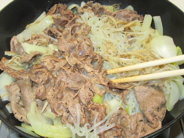 牛肉のすき焼き風煮の作り方手順と割合