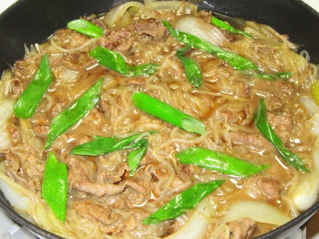牛肉のすき焼き風煮の作り方と調味料の割合