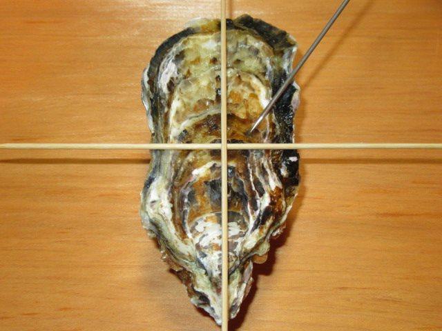かきのからむき方法とコツ,牡蠣の貝柱を外す手順