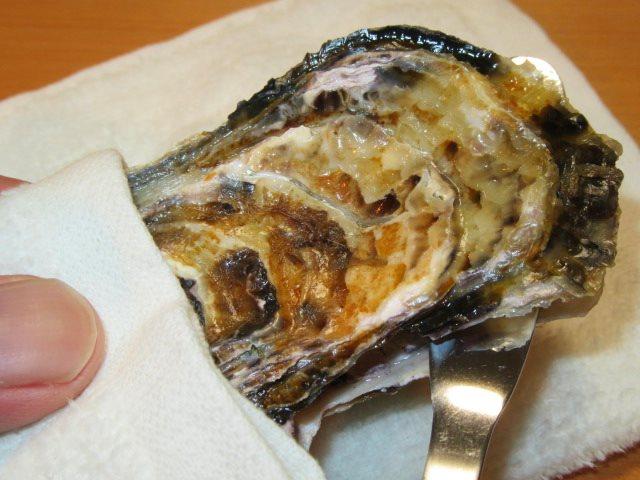 かきのからむき方法,牡蠣の貝柱を外して殻を開ける手順