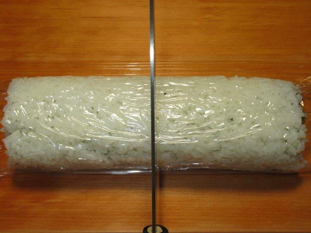 三色うら巻き寿司の作り方,切り方手順