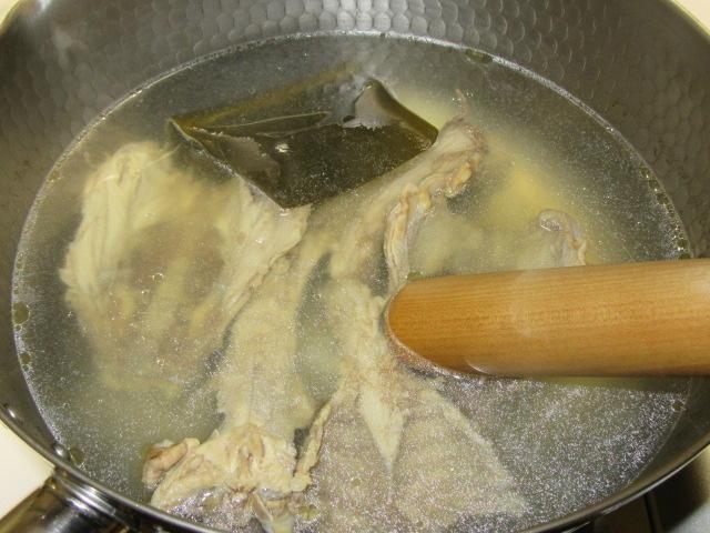 白炊き用鶏だし,白濁とりスープの作り方手順