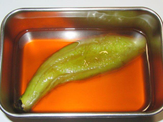 焼きなすを使ったにしんなすの煮物の作り方,茄子に味を付ける工程