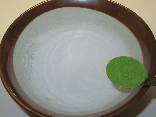 抹茶塩の作り方手順,抹茶を加える工程