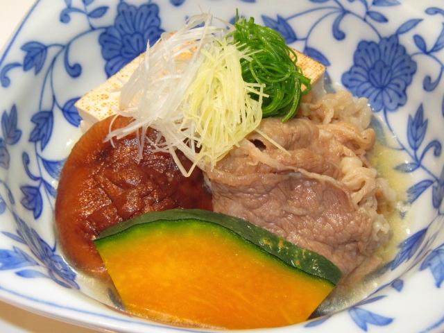 牛肉豆腐の煮物,たき合わせの献立