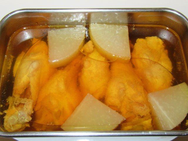 骨つき鶏の蒸し煮の作り方,蒸しあがり写真