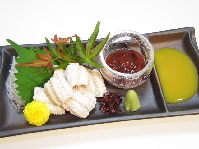 穴子の湯引き,鱧見立て,夏から秋の刺身,酢の物の献立