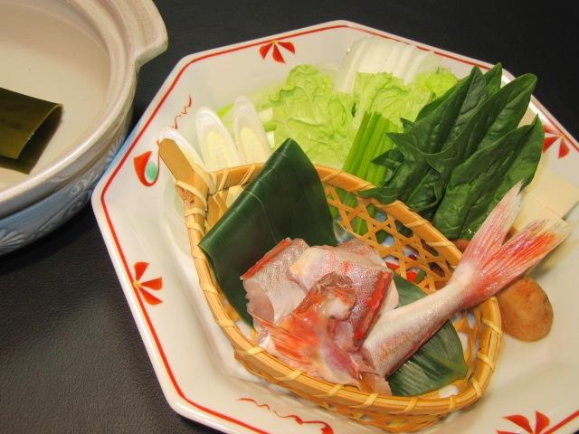 ほうぼうのちり鍋,冬の鍋物の献立