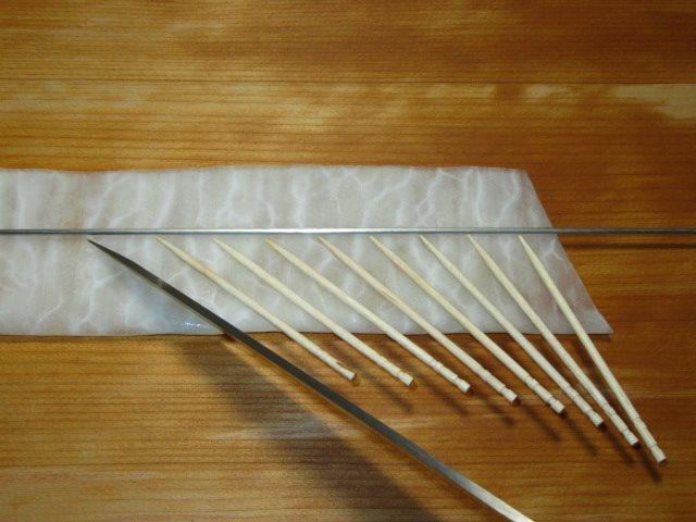 菊花大根の飾り切り方法,切り込みの入れ方