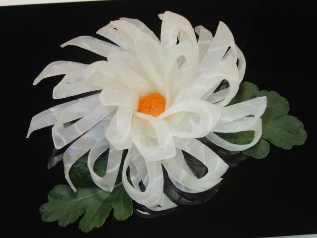 菊花大根の飾り切り