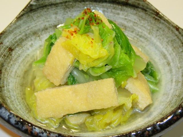 白菜と油揚げの煮物,うま煮の作り方