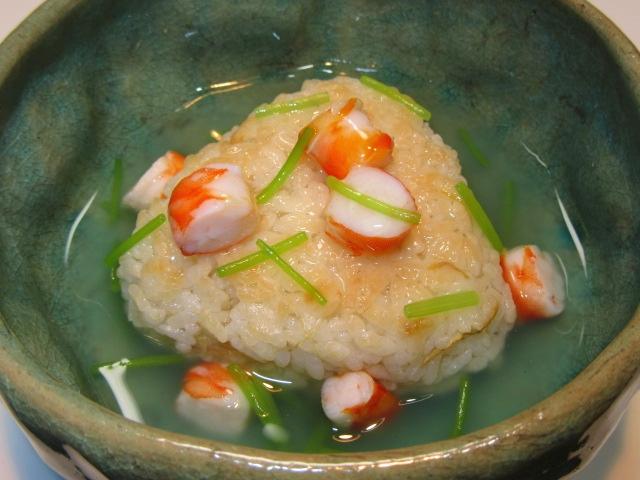 新しょうがご飯の海老あんかけ,初夏のご飯物