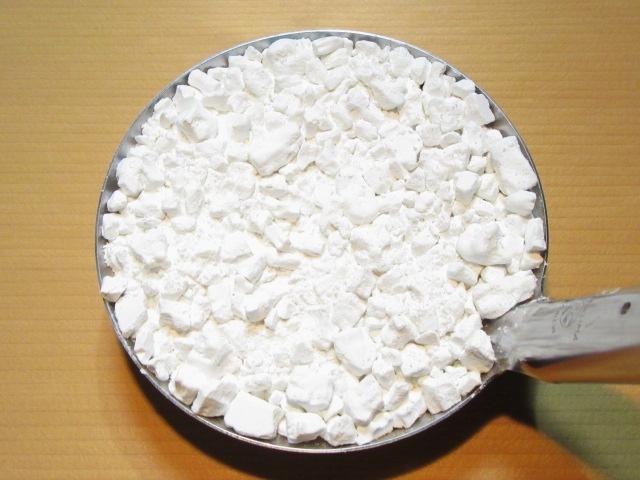 胡麻豆腐の作り方,くずをはかる工程