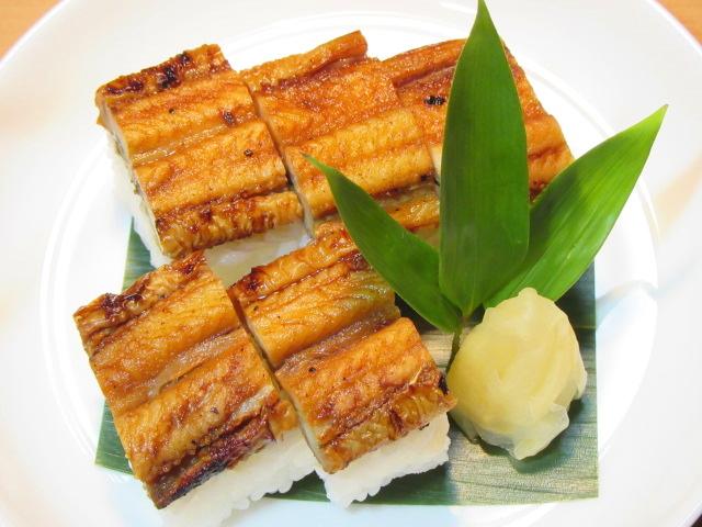 焼き穴子の棒寿司五貫