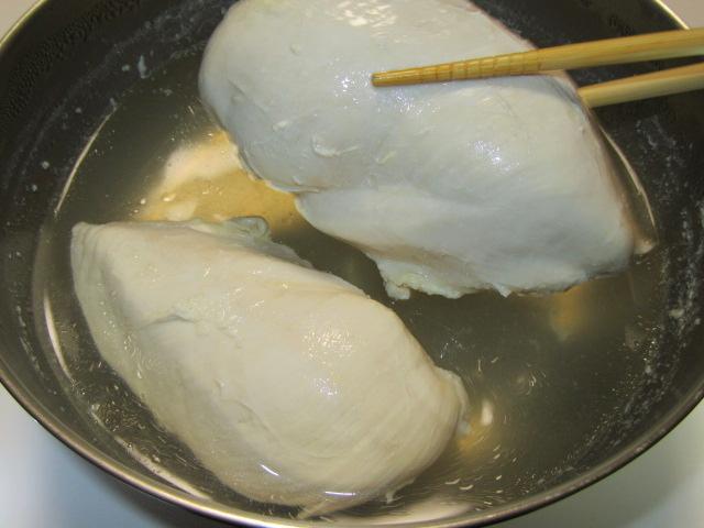鶏むね肉のゆで方