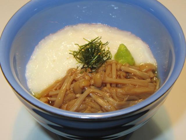 えのき茸の旨煮を使ったなめ茸とろろ,小鉢料理の献立